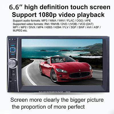Bluetooth Touch Double 2DIN Car Stereo Audio MP3 Player FM Radio USB AUX GPS