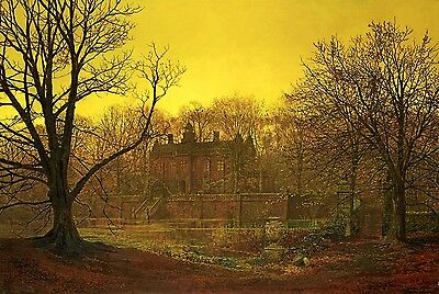 A Yorkshire Home Painting by John Atkinson Grimshaw Art Reproduction