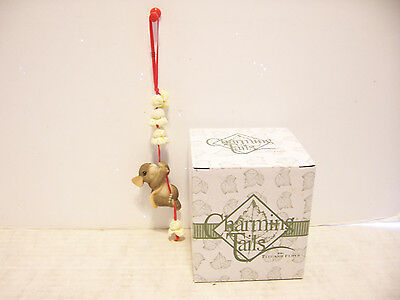 Charming Tails By Dean Griff Christmas Ornament Stringing Flowers A