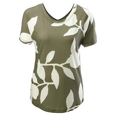 Kathmandu Adapt Womens Quick Dry Relaxed Fit Reversible T-shirt Top Green Print