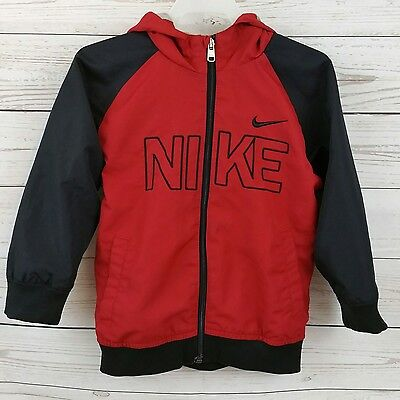 NIKE Boys 3T Track Jacket Full Zip Up Basketball Sports Red