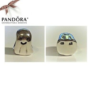 Pandora RETIRED & RARE Sterling Silver GHOST Charm - 790202