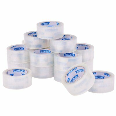 (72 ROLLS) Clear Box Carton Sealing Packing Packaging Tape 2 Inch x 110 Yards