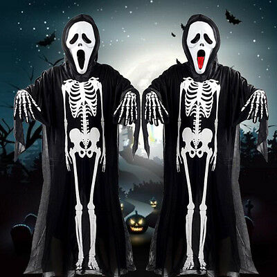 Halloween Costume Party Costume Adult Kids Skeleton Ghost Clothing Apparel