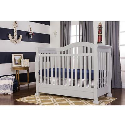 Dream On Me Addison 4-in-1 Convertible Crib - Grey
