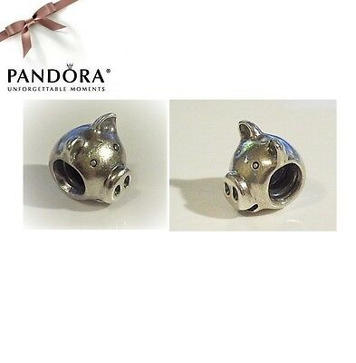 Pandora RETIRED Sterling Silver PIG HEAD Charm - 790214