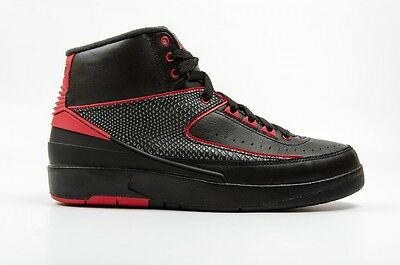 Air Jordan 2 Retro 834274 001 Black Red Men Size 11 New!