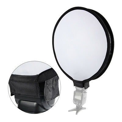 "16"" Mini Portable Round Camera Speedlight Flash Speedlite Diffuser Softbox LF787"