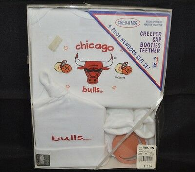 NOS Vintage Chicago Bulls 4 Piece Newborn Set SZ 0-6