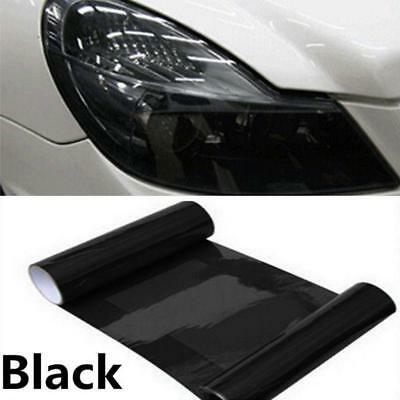 30 x100cm Light Black Headlight Tint Tail Light Fog Lamp Vinyl Smoke Film Sheet