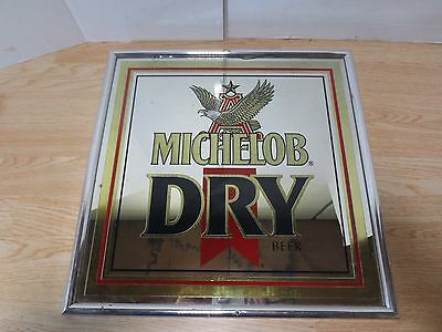 Michelob Dry Beer Mirror Vintage Beer Sign
