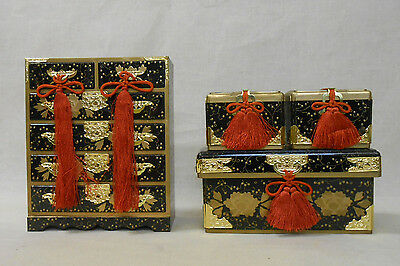 606 Japanese Chest of Drawers TANSU & Boxes NAGAMOCHI / Ornament for HINA Doll