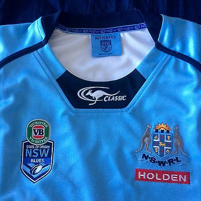 NSW Blues State of Origin Premium Rugby League Jersey - Size LARGE - BNWT!!