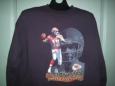 Kansas City Chiefs Joe Montana Sweat Shirt Nfl Size Xl Outstanding! L@@k! Wow!
