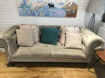 Grey Chesterfield Style Sofa
