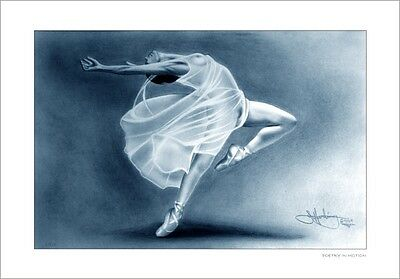 Nude Ballerina In Blue    Drawing      Limited Edition
