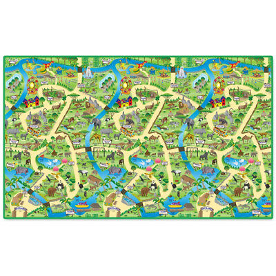 Children's Play Mat - Zoo Design - Baby/kids Playmat - Protect Your Carpet/rug