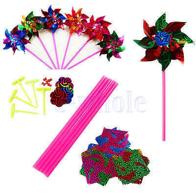 2/6/10 Garden Windmill Pinwheel Yard Festival Nursery Home Decor Kids Toy DIY WS