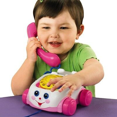 Fisher-Price Chatter Telephone In Pink, Infant Baby Interactive Activity Toy