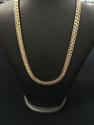 9 Ct (375) Solid Yellow Gold Fancy 18 Inch Chain Necklace Made In Italy