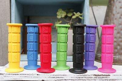 OURY BICYCLE GRIPS - MTB BMX STYLE in BLK, BLUE, GREEN, PINK, PURPLE, RED, YE...
