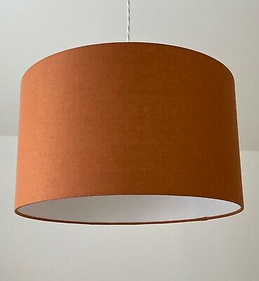 NEW Handmade Burnt Orange Linen Drum Lampshade Lightshade Choice of Colours