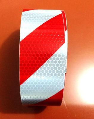 "Red White Reflective Safety Warning Conspicuity Tape Film Stickers 2""x10' 3M"