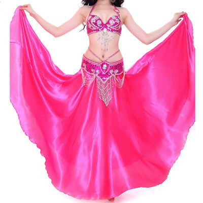 NEW Professional Belly Dance Costume Bra and Long Skirt set Performance Dance