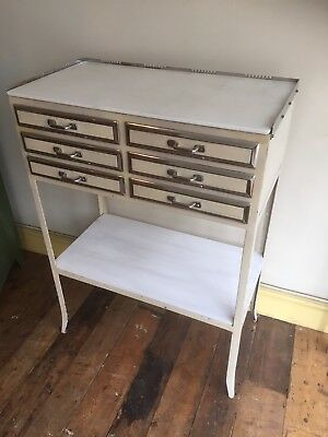 Vintage/ Antique French Dentists Drawers Cabinet. Art Deco Industrial