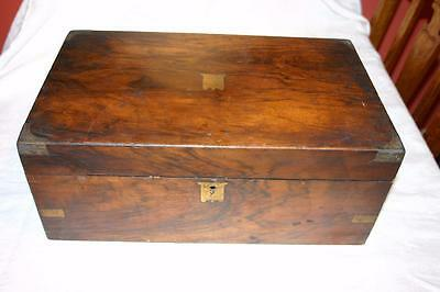 Victorian Wooden Writing Box Slope For Restoration