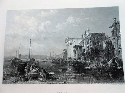 VENICE / VENEZIA,  Stanfield - Cousen published in the Art Journal, 1849.