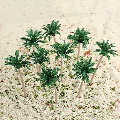 20pcs Coconut Palm Model Trees Train Forest Beach Diorama Scene HO OO Scale 10cm
