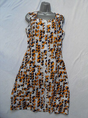 VINTAGE 1960s/70s ABSTRACT PATTERN PINAFORE STYLE DRESS - MOD / SCOOTER / RETRO