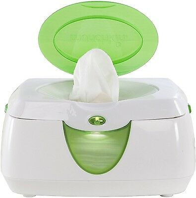 Wipes Holder Warm Glow Warmer Baby Infant Top Lid Flip Storage Case White Green