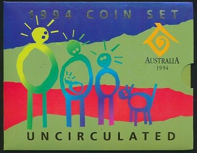 Australia 1994 Uncirculated set Year of Family narrow date