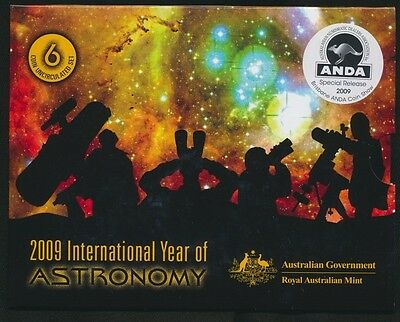 Australia 2009 Uncirculated Set Astronomy ANDA Special Release Brisbane
