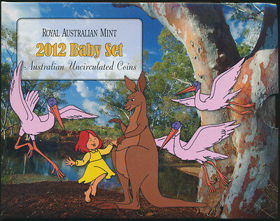 Australia 2012 Baby Uncirculated Set with the Dot and the Kangaroo $1 coin