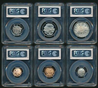 Australia 1966 RAM 6 coin Proof Set In PCGS Slabs RARE!!