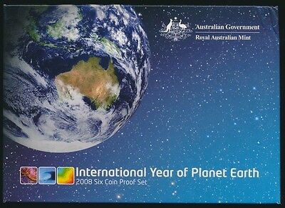 Australia 2008 Proof Set Year of Planet Earth Issue Price $95