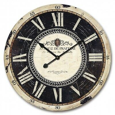 NEW 60cm MDF Round Wall Clock Roman Numbers Home Decor XMAS Gift