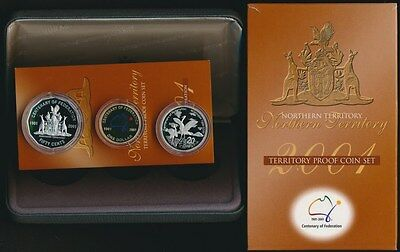 Australia 2001 State Collection Proof 3 coin set - Northern Territory