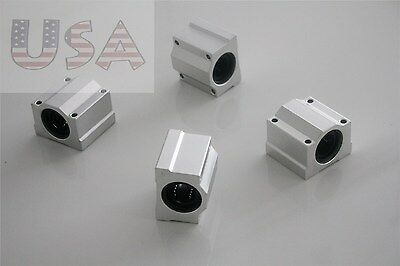 Pack of 4 SC16UU SCS16UU 16mm Linear Motion Ball Bearing Slide Bushing Block