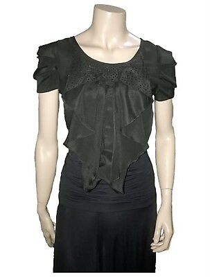 Black Top With Swarovski great for Dancing - Size 8 - A Grade Condition
