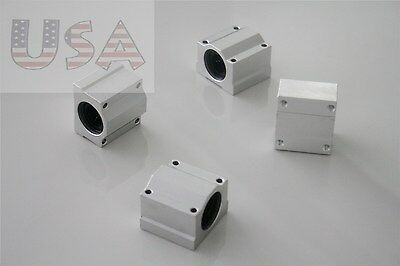 4Pcs CNC SC16UU SCS16UU Linear Motion Ball Bearing Slide Bushing 16mm Shaft