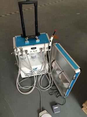 Greeloy GU-P206 Dental Portable Unit Air Compressor With curing light and scaler