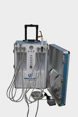 Greeloy GU-P206S Dental Portable Unit Air Compressor With curing light and scale