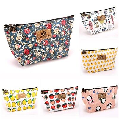 Women Floral Makeup Travel Cosmetic Bag Toiletry Case Pouch Wash Organizer HOT
