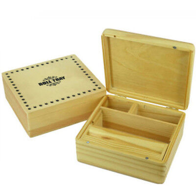 Roll Tray Wooden Rolling Box Roll Box Smoking Large Cigarette Tobacco Stash Snuf