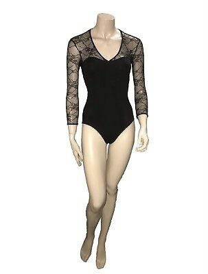 Black Bloch Leotard great for Dancing - Size P - B Grade Condition