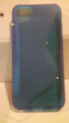 Blue S Curve Gel Case for iPhone 5